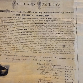 Original Charter from The state of New York signed in 1879