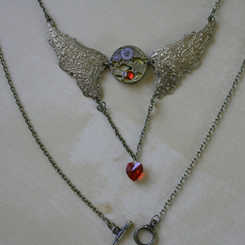 Time Flies Steampunk Necklace - Costume Jewelry