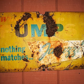 When It Comes to Pumps Nothing Matches Jacuzzi vintage sign - Advertising