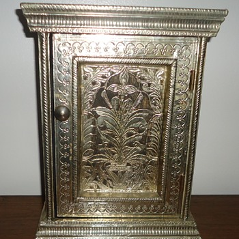 Small Metal Ornate Cabinet - Furniture