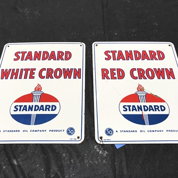 Set of Standard oil gas pump plates 1954  - Petroliana