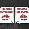 Set of Standard oil gas pump plates 1954