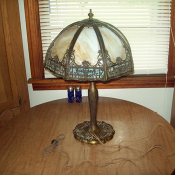 Antique Leaded lamp   Handel maybe? - Lamps