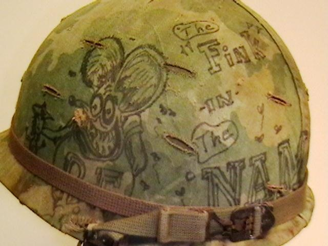 c96b93b83ef9c6 U.S. M-1 Helmet Used in Vietnam with Original Graffiti on Helmet Cover    Collectors Weekly