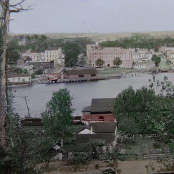 Tinted Postcard. 1918 Pentwater, Michigan.