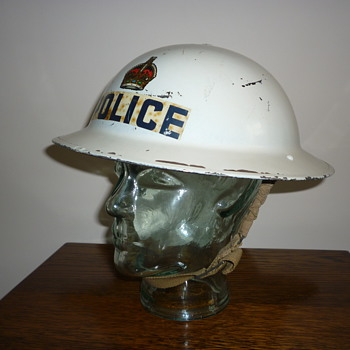 British WWII Police Senior Officers steel helmet. 1939