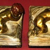 1939 Armour Bronze Polychrome Painted Bookends