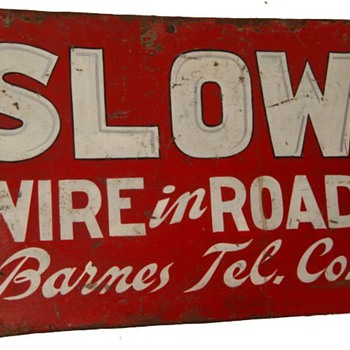 Wire in Road Barnes Tel. Co - Telephones