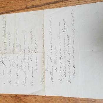 "1938 ""At Escort!"" Song written in Berlin, Germany - Paper"