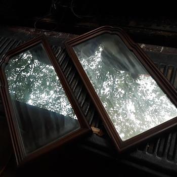 old pair of vanity mirrors - Furniture