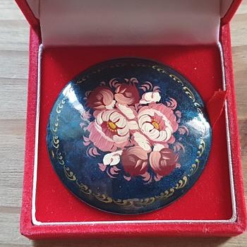 Russian signed brooch pin - Fine Jewelry