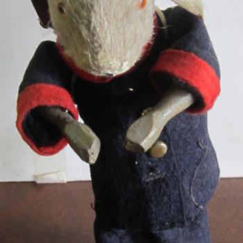"Antique Windup Rabbit 7"" Maker Unknown - Toys"