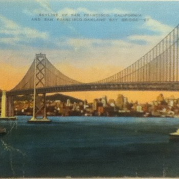 Postcard of San Francisco Skyline and Bay Bridge - Postcards