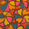 Outstanding Early 1970's Unused Vintage Psychedelic Flower Power Fabric