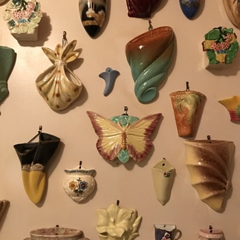 My late mother's collection of ceramic wall pocket vases - Pottery