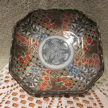 Antique RARE Japanese Imari Octangol Scallop Edge Style Bowl ??????