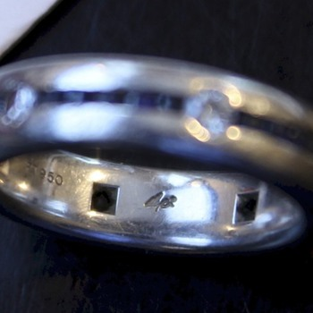 Platinum Ring with Unknown Makers Mark - Fine Jewelry