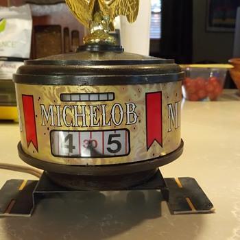 1970 - 75 Michelob Point of Sale Annular clock. - Clocks