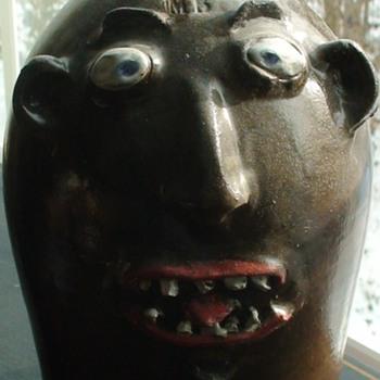 Face Jug Marvin Bailey South Carolina - Pottery