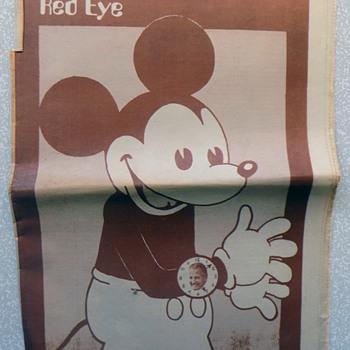 Hippie Underground Newspaper w Mickey Mouse wearing Agnew Watch - Politics