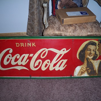 1942 Coca Cola Tin Sign - Coca-Cola