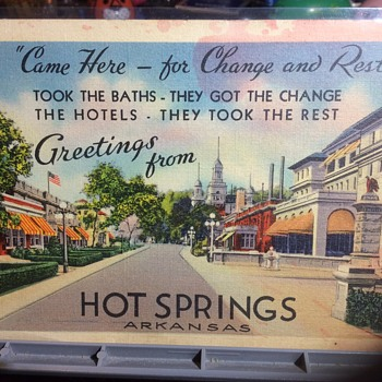 Dear Hope and Cliff we are getting along fine  - Postcards