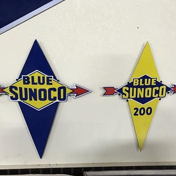 Sunoco gas pump plates  - Petroliana