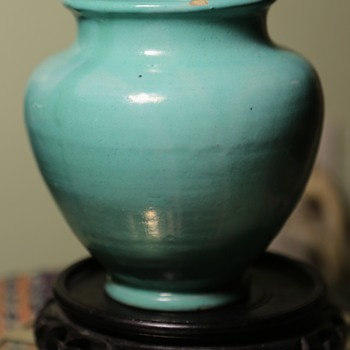 Pretty Blue Vase from Italy - Pottery