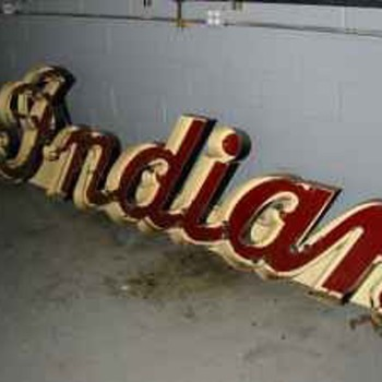 Antique Indian Motorcycle Neon Sign Mint - Signs