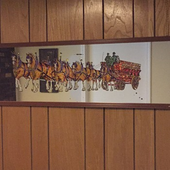 Anheuser Busch Clydesdale Mirror - Advertising