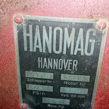 Rare Lugged Wheeled Hanomag Hannover Diesel  - Tractors