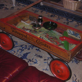 Wood Coaster Wagon Coffee Table - Furniture