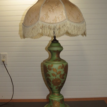 vintage jadeite double lamp help - Antique Lamp