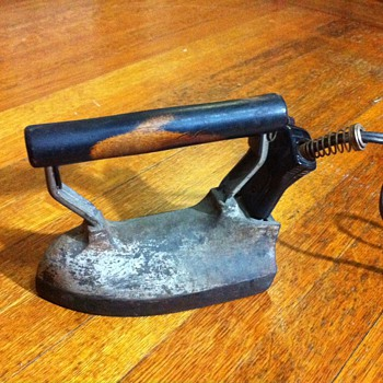 Our General Electric F-10 iron with cord - Kitchen