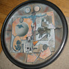 """""""A Kind Of Game Board:""""  Stoneware Art Plate"""