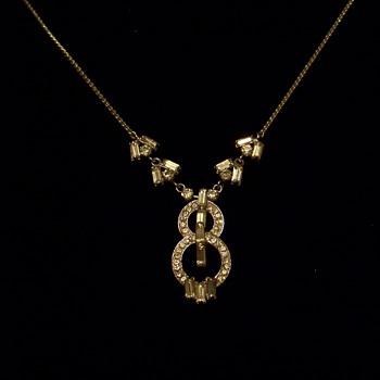 Unmarked Deco? Rhinestone Necklace
