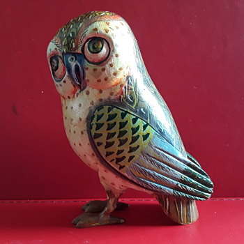 Wooden Owl - Folk Art