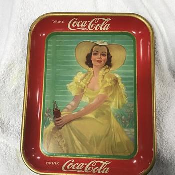 Coca Cola tray 1938  - Coca-Cola