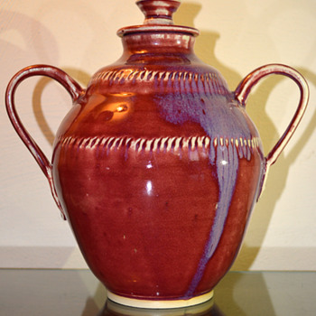 Lidded Jar w/ Handles - Pottery