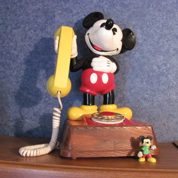 Mickey Mouse Phone...rotary dial.  Purchased, perhaps 30 plus yrs. ago.   - Telephones