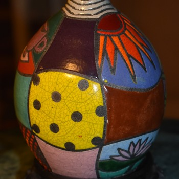 Beautiful Vase Marked 'Sylvester 95' - Pottery