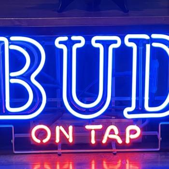 Budweiser On Tap Sign - Breweriana