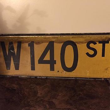 1960s/1970s Manhattan, New York street sign - Signs