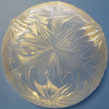 Verlys/Heisey/Holophane? satin crystal thistle bowl - Glassware