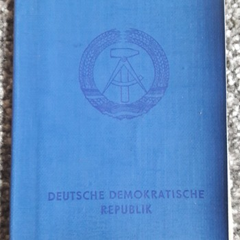 Germany during the cold war part 10 -  East Berlin Passport - Paper