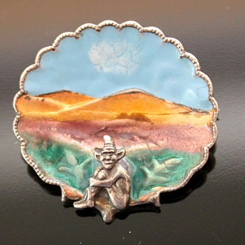 Two enamel brooches - who by?