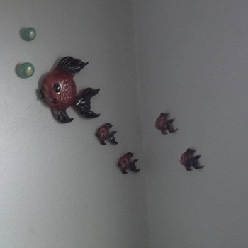 Antique Chalkware Fish - Figurines
