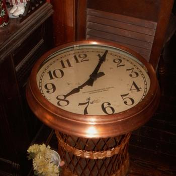 Vintage Copper School Clock - Clocks