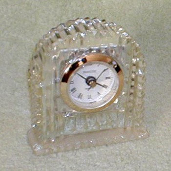 Michael C. Fina Lead Crystal Clock - Clocks