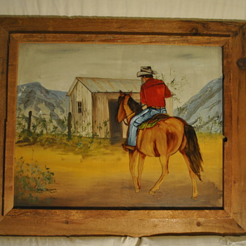 Cowboy on Horse Painting by Ginger Rogers Briggs - Fine Art